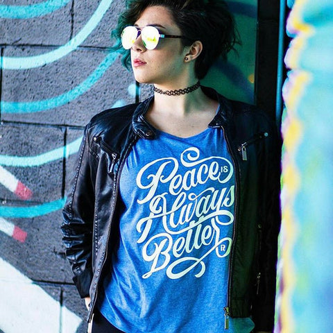 Peace Is Always Better Flow Tee