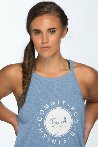 Faith Fitness Tank | Blue