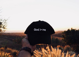 God > Me Dad Hat | Black