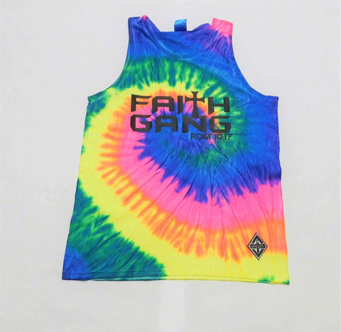 Faith Gang Tie Die Tank