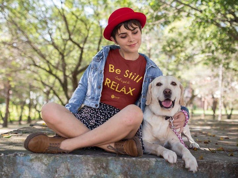 Be Still & Relax Ladies Crew Neck Tee | Assorted Colors