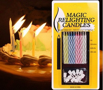Magic relightening candles - saysurprise
