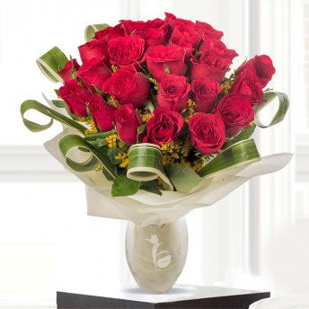 24 premium long-stem red roses - saysurprise