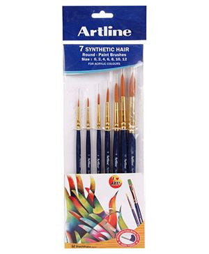 Artline Paint Brush Synthetic Round - Set of 7 - saysurprise