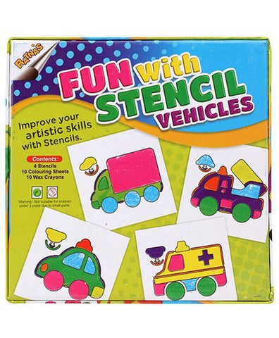 Stencils Vehicles for learning coloring - saysurprise