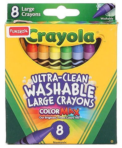 Funskool Crayola Large Washable Crayons - 8 Counts - saysurprise
