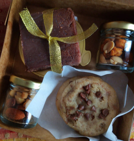 Mini Box Brownies, Cookies and Dry fruits