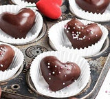 Gourmet heart chocolates