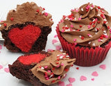 Heart inside cupcakes