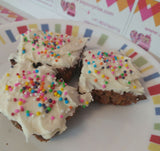 Frosting topped bite sized brownies - saysurprise
