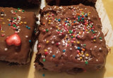 Chewy fudgy brownies & sprinkles - saysurprise
