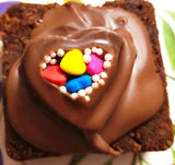 Single chocolate topped brownie