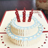 Popup Birthday Tiered Cake Card