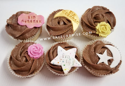 EID cupcakes box of 6