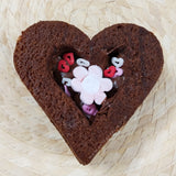 Nutella center brownie heart