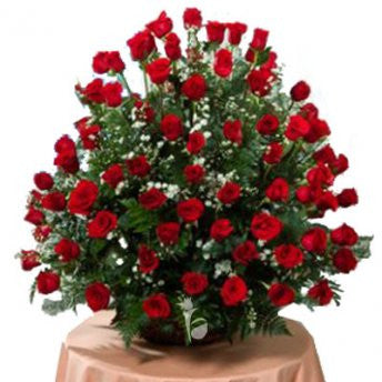 100 premium red roses bunch - saysurprise