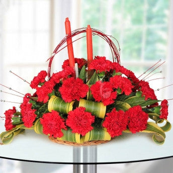 25 Carnations in a basket - saysurprise