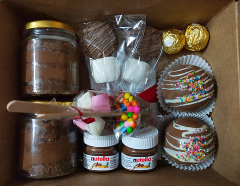 Nutella Brownie Jars & Hot Chocolate Hamper