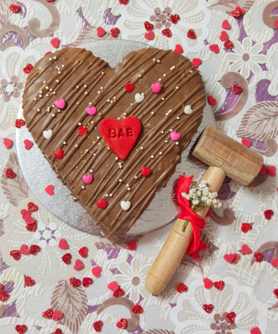 Heart Geo Pinata with cake