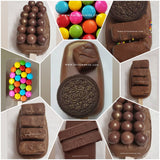 Candy bar browniesicle