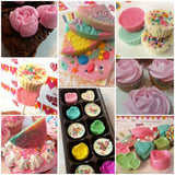 Pastel cupcake and chocolate gift box - saysurprise