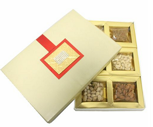 Assorted Dry Fruit Gift Box - 600 grams - saysurprise