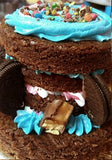 Brownie cake 3 tier - saysurprise