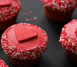 Heart themed cupcakes