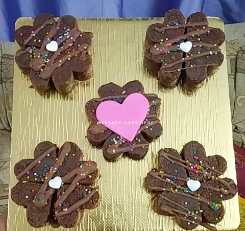 Heart Brownie Platter