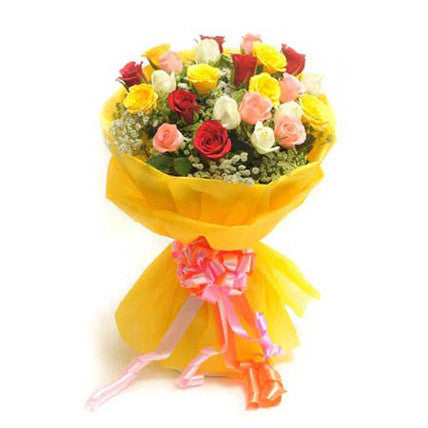 20 premium long-stem assorted roses - saysurprise