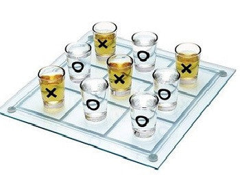 Tic Tac Toe Shot Glasses, 9-Pieces - saysurprise