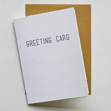 Regular greeting card