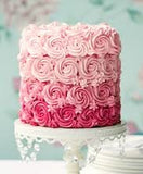 Rose ombre vanilla cake - 1 kg - saysurprise