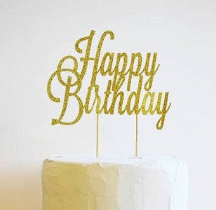 Happy Birthday cake/cupcake topper - saysurprise