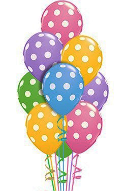 Polka Dots 50 Balloon Bouquet - saysurprise