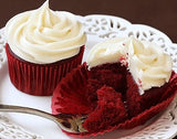 Redvelvet cupcakes with cream cheese frosting - saysurprise