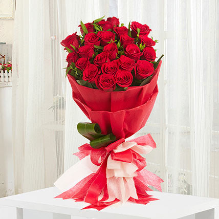 20 premium long-stem red roses - saysurprise