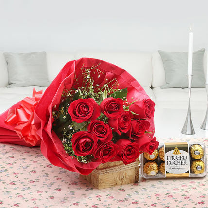 Roses and Ferrero rocher combo - saysurprise