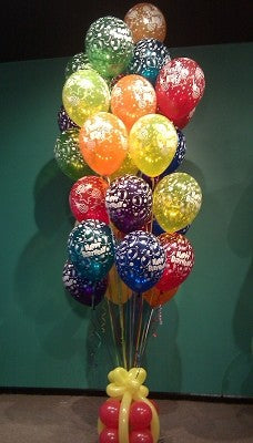Happy Birthday 100 Balloon Bouquet - saysurprise