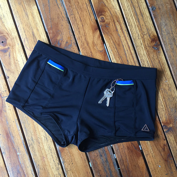 Amade Swim Square Cut Brief with hidden pocket.
