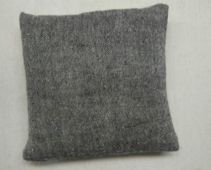 Kasiah Natural Woven Linen Cushion Natural & Charcoal