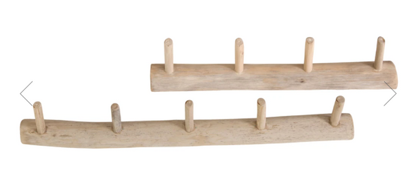Uniqwa Primitive Teak Wall Hooks