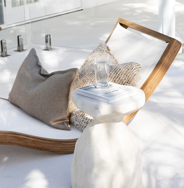 Uniqwa Mykonos Lounger Teak & White