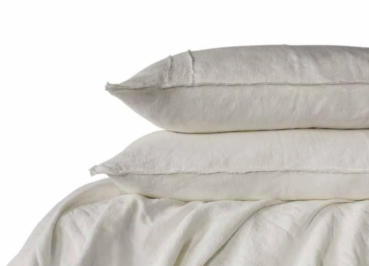 Linen Duvet Cover King Bed White