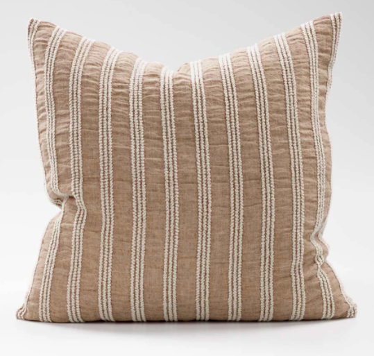 Low Tide Linen Cushion -Antique Rose