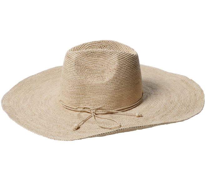 Made In Mada Aziz Raffia Hat - Natural BACK SOON ON REORDER