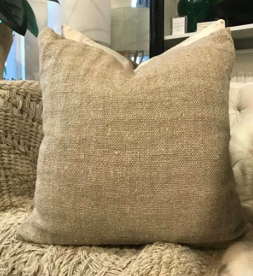 Kasiah Woven Linen Cushion -Natural