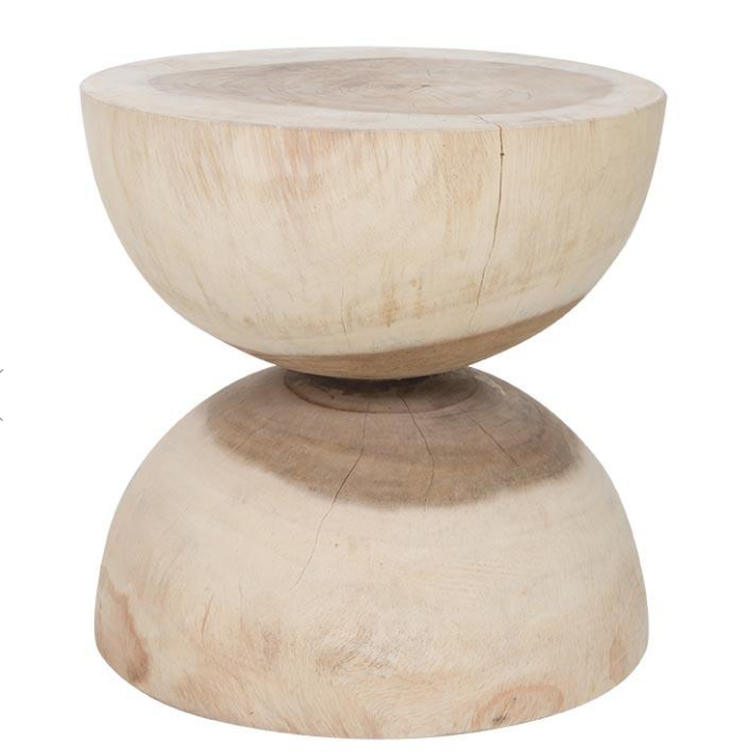 Mele Timber Stool Salt Wood