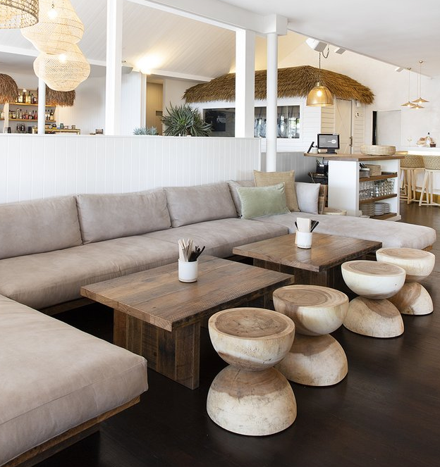uniqwa mele stools timber raw natural the loft byron bay furniture