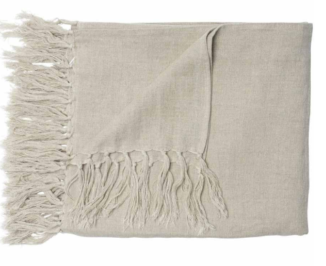 Luca Linen Throw- Natural